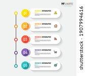 infographics design template ... | Shutterstock .eps vector #1907994616