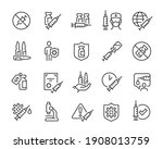 vaccine icon set. collection of ... | Shutterstock .eps vector #1908013759