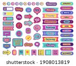 notepad stickers. to do sticky... | Shutterstock . vector #1908013819
