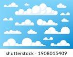 set of blue sky  clouds. cloud...   Shutterstock .eps vector #1908015409