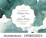 classic emerald watercolor... | Shutterstock .eps vector #1908023023