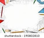 architect designer desktop... | Shutterstock . vector #190802810