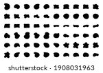 blob shapes vector set. organic ...   Shutterstock .eps vector #1908031963