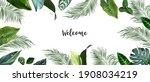 tropical banner arranged from... | Shutterstock .eps vector #1908034219