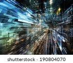 city lights series. interplay... | Shutterstock . vector #190804070