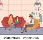 conversation between mother ... | Shutterstock .eps vector #1908043939