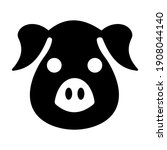 pig face icon isolated on white ... | Shutterstock .eps vector #1908044140