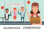 office party to say farewell or ... | Shutterstock .eps vector #1908049333