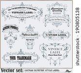 border style labels on... | Shutterstock .eps vector #190805138