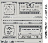 border style labels on... | Shutterstock .eps vector #190805156