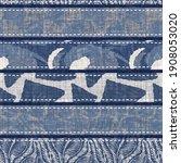 denim blue patchwork stripe...   Shutterstock . vector #1908053020