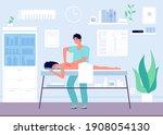 massage concept. occupational... | Shutterstock . vector #1908054130