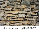 Sandstone Wall Close Up....