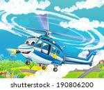 cartoon helicopter  ... | Shutterstock . vector #190806200