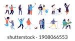 people in winter. men and women ... | Shutterstock . vector #1908066553