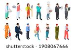 different professions.... | Shutterstock . vector #1908067666