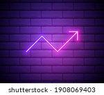line chart pink glowing neon ui ...