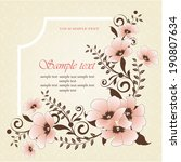 wedding card or invitation with ... | Shutterstock .eps vector #190807634