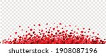 red hearts border with...   Shutterstock .eps vector #1908087196