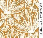 watercolor orange flower motif...   Shutterstock . vector #1908092569
