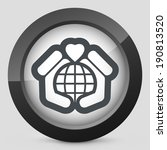 world love icon | Shutterstock .eps vector #190813520
