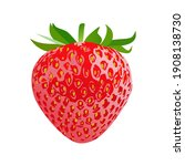 strawberry icon isolated on...   Shutterstock .eps vector #1908138730