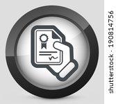 certificate document icon | Shutterstock .eps vector #190814756