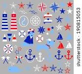 nautical clip art | Shutterstock .eps vector #190815053