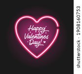 lettering happy valentines day... | Shutterstock .eps vector #1908160753