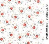 vintage floral bouquet seamless ...   Shutterstock .eps vector #190819370