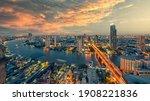 Chao Phraya River With Sun...