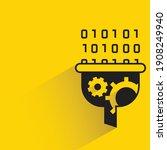 funnel and binary data for data ... | Shutterstock .eps vector #1908249940