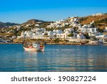boats in the sea bay near the... | Shutterstock . vector #190827224