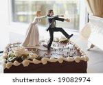 Funny Wedding Cake Top  Bride...