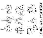 hand drawn doodle water spray...   Shutterstock .eps vector #1908300643
