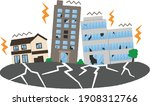 city destroyed by an earthquake.... | Shutterstock .eps vector #1908312766