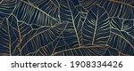 gold pattern background vector. ... | Shutterstock .eps vector #1908334426