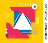 memphis paper cut shapes for... | Shutterstock .eps vector #1908348529