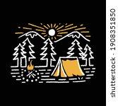 camping nature adventure wild...   Shutterstock .eps vector #1908351850