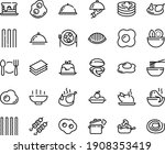 food line icon set   hot bowl ...   Shutterstock .eps vector #1908353419