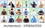 set mix race people of...   Shutterstock .eps vector #1908362920