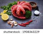 Octopus Food Salad Vegetable...