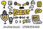 podcast vector doodle... | Shutterstock .eps vector #1908396460