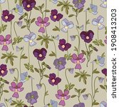 floral seamless pattern with... | Shutterstock .eps vector #1908413203