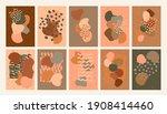 vector creative earth tone... | Shutterstock .eps vector #1908414460