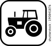 tractor vector icon | Shutterstock .eps vector #190841876