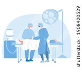 medical team performing...   Shutterstock .eps vector #1908420529