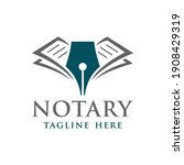modern notary or law firm logo... | Shutterstock .eps vector #1908429319