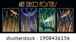 art deco posters  retro... | Shutterstock .eps vector #1908436156