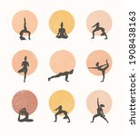 contours of women in the yoga...   Shutterstock .eps vector #1908438163